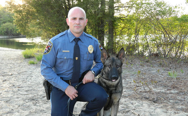 Patrolman Daniel Fogarty #211 and K-9 Rigby #914