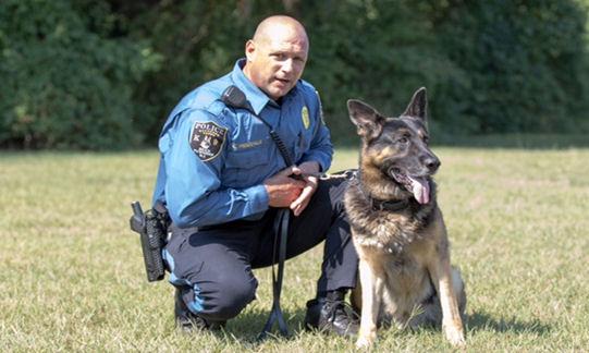 Patrolman Keith Prendeville #223 and K-9 Max #913