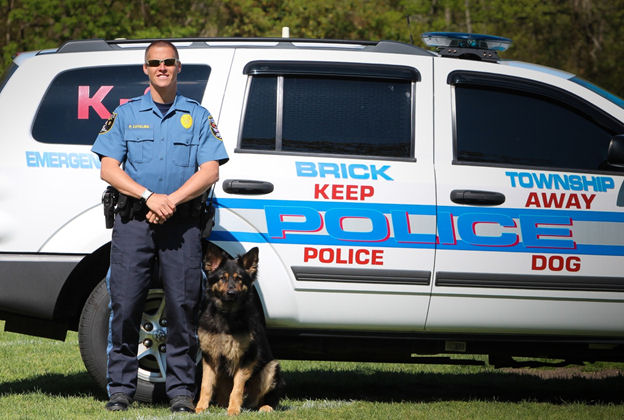 Sergeant Paul Catalina #229 and K-9 Duke #915